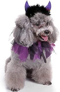 JPB Halloween Costumes for Pets,Dog Devil Horns Headband and Doggie Tutu Collar