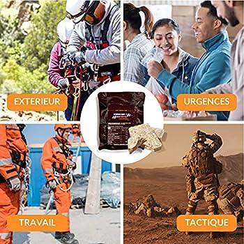 CONVAR-7 Pack barre énergétique Chocochino,pour sport et activités de plein air,nourriture pour situations d'urgence, ration de survie.Goût chocolat cappuccino,emballage compact et longue conservation