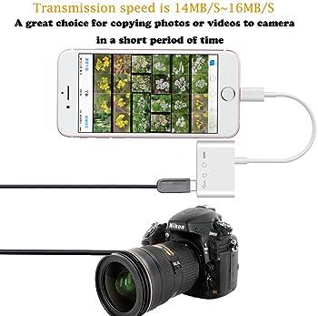 SD TF Card Reader USB OTG Camera Adapter Kit SD Micro-SD Card Reader Work with Hubs Keyboards Audio/MIDI Interfaces E...