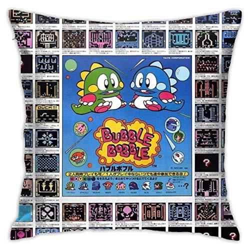 By Rare Bubble Bobble Japanese Reprint Artwork Cushion Throw Pillow Cover Decorative Pillow Case For Sofa Bedroom Fundas para Almohada 26x26Inch(65cmx65cm)