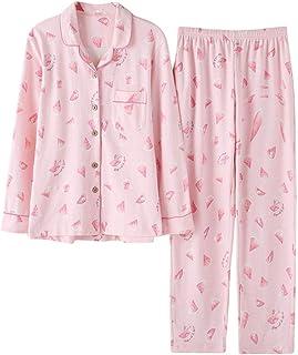 c9ca691706c Meaeo Otoño Lindo De Dibujos Animados Sandía Mujeres Turn-Down Collar  Sleepwear 2 Conjunto De