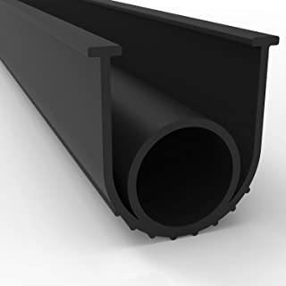 BOWSEN Garage Door Seals Bottom Weatherproof Weatherstrip Rubber Replacement Black 1/4 Inch T-End,20ft Long