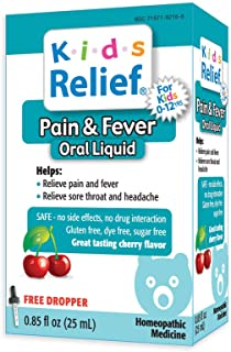 Kids Relief Pain and Fever Oral Solution, 0.85 Ounce