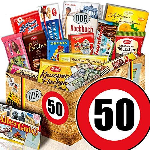 Geschenkidee zum 50. / Geburtstag 50 / DDR Schokobox