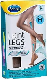 Scholl, Scholl Medias de Compresión Ligera Mujer Light Legs 20DEN, Color Carne, M