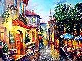giyiohok - Quadro da colorare per Numeri, Paesaggio, bricolage, Pittura a Olio, Numeri, Decorazione Moderna, disegnare su Tela Dipinta a Mano, Arte da Parete, 40 x 50 cm, Senza Cornice