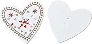 Amor Coraz/ón IPOTCH 25 Piezas De Madera Copo De Nieve De Navidad Botones De Adorno