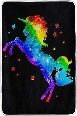 75a7d9e43e4f Amazon.com: XLING Home Blanket Watercolor Galaxy Animal Dinosaur ...