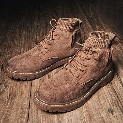 LOVDRAM Bottes Homme Hiver Nouvelle Mode Martin Bottes en Cuir De Mode pour Hommes Chaussures pour Garder Au Chaud Chaussures élevées Wild Chaussures De Travail Chaussures Casual