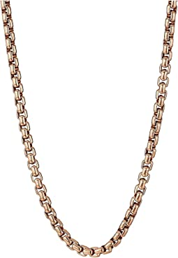 Classic Chain 4 mm. Box Chain Necklace