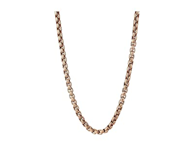 John Hardy Classic Chain 4 mm. Box Chain Necklace (Silver/Bronze) Necklace
