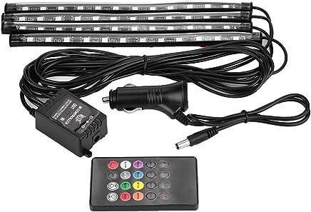 Govee /Éclairage int/érieur de voiture 48 LED Multicolore Sync de la musique pour voiture Lumi/ères ambiantes /Étanches sous le tableau de bord avec fonction sonore active et contr/ôle simple 12 V