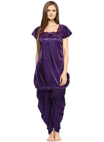 Buy Fashigo Women's Nightdress (Set)(FASNW038_Purple_Free Size) at Amazon.in