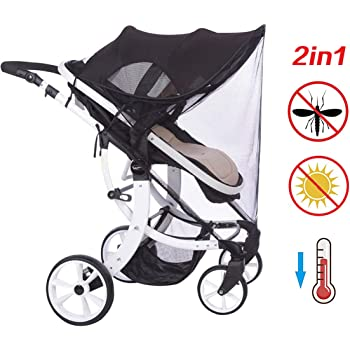 Protecci/ón Solar Universal Capazos y Sillas de Paseo Adecuado para Viajes al Aire Libre Flexible con protecci/ón UV para Cochecitos Toldo para cochecito de beb/é Universal y F/ácil de Instalar
