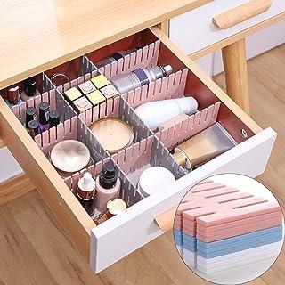 OSEO Drawer Divider Organizers, DIY Plastic Grid, Plastic Adjustable Drawer Dividers, Household Storage - Makeup Socks, Un...