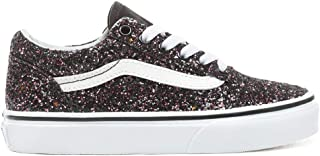 Vans Kids Girl's Old Skool Glitter Stars Skate Shoes