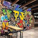 3D Wandbild Hintergrund bild Tapete Moderne Straße Cartoon Buchstaben Graffiti Bar KTV Wohnzimmer Dekoration Wanddekoration Tapete Kunst muraart 300cmx210cm
