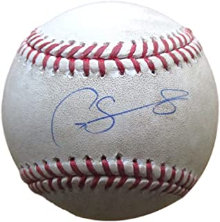 8eeee71d8 Gary Sanchez Signed Yankees Game Used Baseball w/Free Cube Steiner+MLB  JB814623