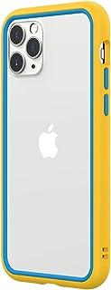 RhinoShield iPhone 11 Pro CrashGuard NX バンパーケース | 3.5mの落下衝撃からも保護 衝撃吸収 スリム設計 耐衝撃保護カバー 薄型軽量 背面のないスタイリッシュデザイン - イエロー/アジュールブルー