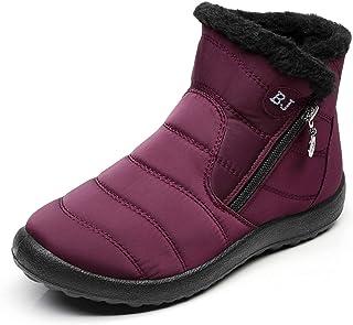ab1e7a6c Zapatos Mujer Botas de Nieve Invierno Forro Calentar Tobillo Al Aire Libre  Zapatillas Altas Outdoor Antideslizante