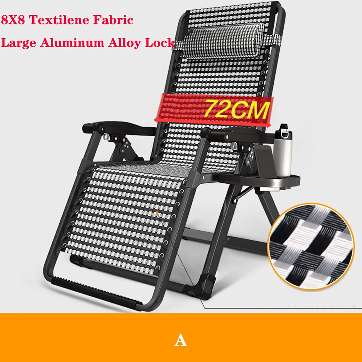 Zero Gravity Locking Lounge Chair Oversize Adjustable Folding Chairs Chaise Recliner with Headrest Outdoor Indoor Patio Pool Support 500lbsa