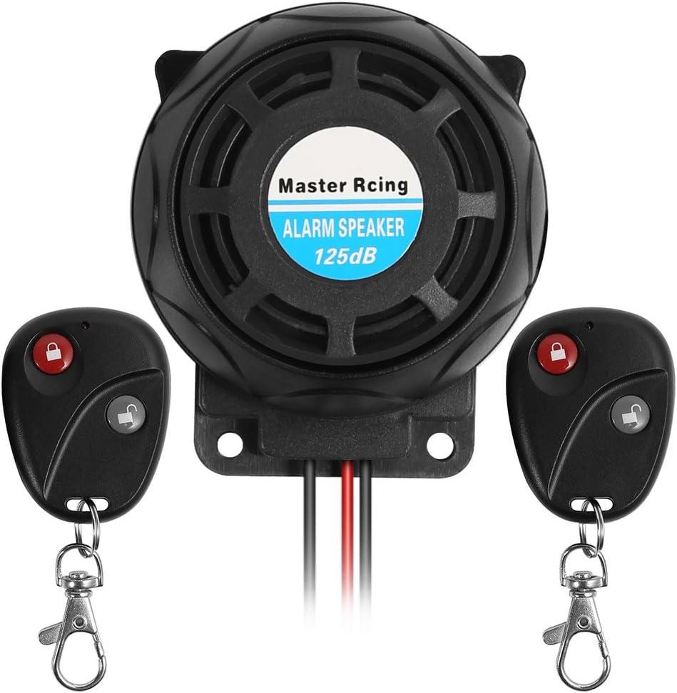 Rupse Inalámbrico Alarma Moto, Antirrobo Moto Alarma con Sistema de Control Remoto Dual a Prueba de Agua,Alarma Antirrobo de Seguridad Alarmas para Motos sin Instalacion