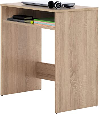 Comfort Bureau pour jeunes – Bureau pour studio, grande surface 1 niche pour rangement, fabriqué en bois avec finition en mélamine. Table d'étude fonctionnelle - ONETA sonoma