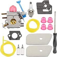Wellsking 128CD Carburetor for Husqvarna 125C 125L 125E 125LDX 128LD 128L 128LDX 124C 124L 128C String Trimmer Brush Cutter Rep C1Q-W38 545081850 + Tune Up Kits