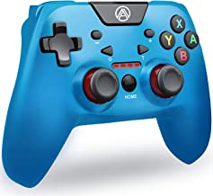 Switch Pro Controller PC Controller, A.A PC Game Controller Game Controller for Switch with Dual Shock & Adjustable Turbo Function High Performance Wireless Switch Controller PC Game Controller(Blue)