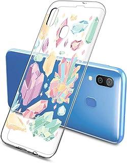 Oihxse Funda Dibujos Diamantes Brillantes Compatible Samsung Galaxy A10S Transparente Silicona TPU Bumper Case Ultra Delga...