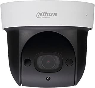 Dahua 1080P PTZ PoE IP Security Camera SD29204UE-GN Pan Tilt 4X Optical Zoom,2MP HD Starlight Dome Indoor Network Camera with Built-in Mic for Audio,SD Card Slot, 30m IR Night Vision,ONVIF,IVS