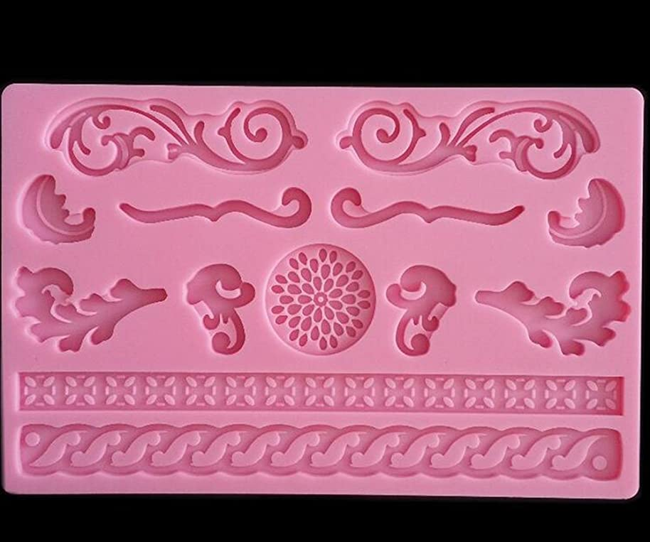 YOYOSTORE Silicone Fondant Mat Cake Embossing Mold Mould Lace Gel pad Decoration For Christmas Wedding Birthday Sugar Candy Icing Chocolate