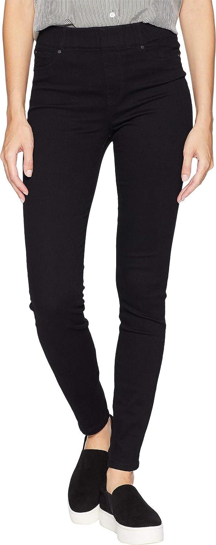 Liverpool Womens Chloe Skinny Jeans in Silky Soft Stretch Denim in Black Rinse