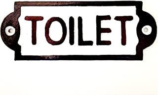 Antique Retro Shabby Chic Style Handmade Toilet LOO Iron Black and White Sign Plaque Pub House Vintage