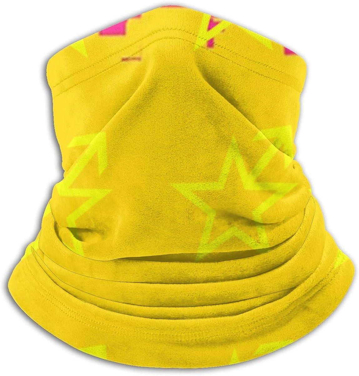 Women Men Kids Adjustable Neck Gaiter Tube Ear Warmer Sports Face Mask