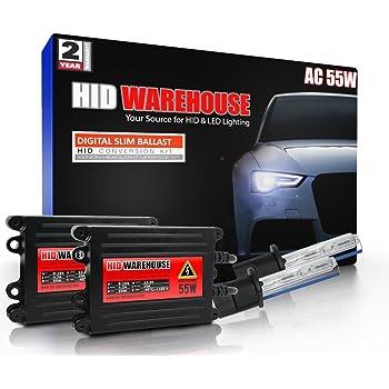 9007 10000K XtremeVision 35W Xenon HID Lights with Premium Slim Ballast 10K Dark Blue 2 Year Warranty