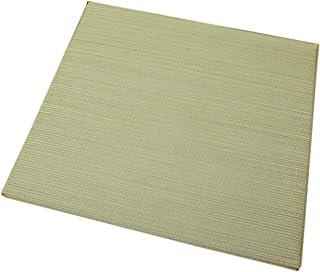 縁なしユニット畳 41x41cm コンパクトサイズ ナチュラル色 1枚単品【へりなし、スベリ止め加工、木製ボード使用】