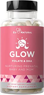 Sponsored Ad - Glow Prenatal Vitamins + Folate & DHA – Nurturing Pregnancy Multivitamin for Healthy Baby and Mom – Folic A...