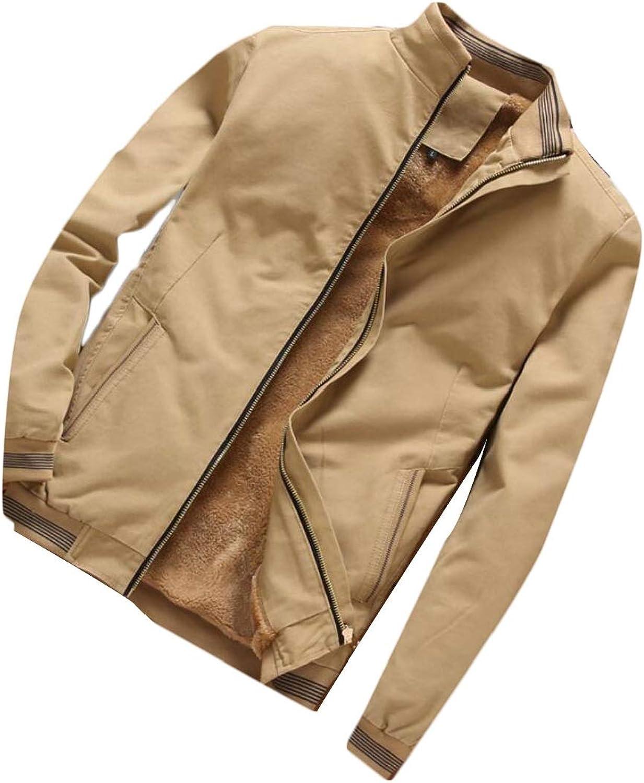 db95c1cd Desolateness Men's Shearling Coats Vintage Sherpa Sherpa Sherpa Lined Slim  Trucker Jacket b969c2