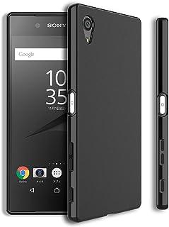 Xperia Z5 ケースSO-01H ケース SOV32 カバー エクスペリア Z5 ケース シンプル 滑りにくい ソフト マット仕上げ TPU シリコン ボタン押しやすい 透明性なし WOEXET ブラック