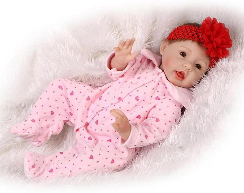 IIWOJ Reborn Baby Doll, 55cm Simulation Big-eyed Silicone Doll Cute Realistic Photography Props