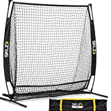 SKLZ Portable Baseball and Softball Hitting Net with Vault, 5 x 5 feet