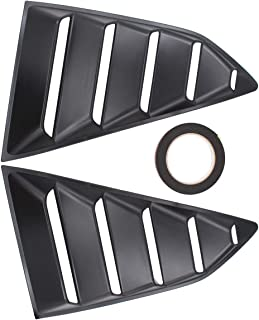 NewYall Pack of 2 Matte Black Rear Left Driver and Right Passenger Side Window Quarter Louver Cover