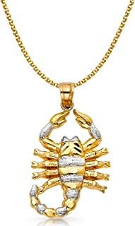 GoldenMine 14k Two Tone Gold CZ 15Years Pendant Size : 17 x 10 mm