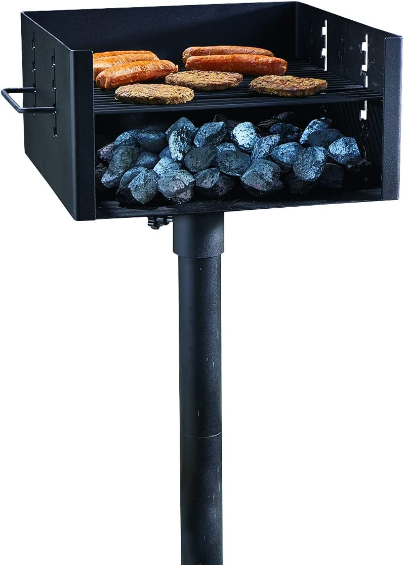 Guide Gear Heavy-Duty Park-Style Charcoal BBQ Grill for Camping, Outdoor Cooking, Backyard, Patio, Camp Grilling Barbecues, Large