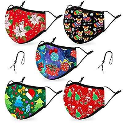 Amazon - Save 50%: Reversible Christmas Face Madks for Adults Reusable Adjustable, Breathable Bl…
