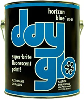 DayGlo Fluorescent Solvent-Based 215 Series Brushing Enamel Paint (Gallon, Horizon Blue, 215-19)