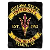 Northwest COL 802 NOR-1COL080200086RET 60 x 80 in. Arizona State Sun Devils NCAA Royal Plush Raschel Blanket, Rebel Series
