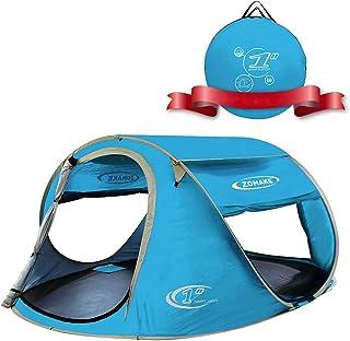 comprar comparacion KEUMER Plegable Tienda de Playa para 3-4 Personas, Portatil Pop Up Tienda de Playa para Bebé Protección Solar Anti UV 50+(...