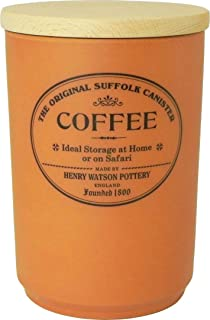 Henry Watson - Airtight Coffee Canister - Terracotta - Made in England - 6.5 inches x 4.4 inches - The Original Suffolk Co...